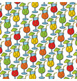 background pattern with cocktail glasses vector image vector image