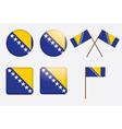 badges with flag of Bosnia and Herzegovina vector image