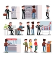 bank people set vector image vector image