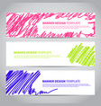 banner with abstract modern hand drawn pattern vector image