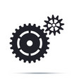 black cogwheels icon flat design element vector image