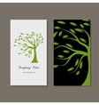 Business card design green tree vector image vector image