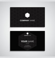 business card name black template vector image