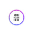 circle banner for web interface or print vector image