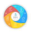 circle infographic template with 5 options vector image vector image