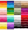 color torn paper big set vector image