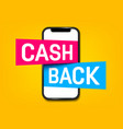 creative of cash back vector image vector image