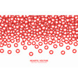falling hearts red flat icons conceptual abstract vector image vector image