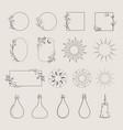 frames logo elements vector image vector image