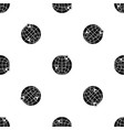 globe pattern seamless black vector image vector image
