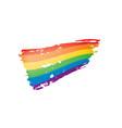 Grunge rainbow flag isolated on white background