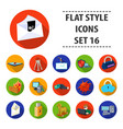 hackers and hacking set icons in flat style big vector image vector image