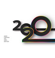 happy new year 2020 banner with luxury colored vector image vector image
