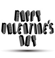 Happy Valentines Day greeting phrase made with 3d vector image vector image