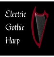 Harp gothic vector image vector image