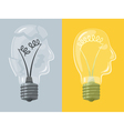 Head lightbulb vector image vector image