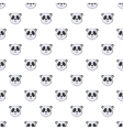 Head of panda pattern cartoon style vector image