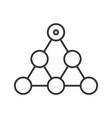 hierarchy linear icon vector image