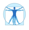 Human body icon of vitruvian man vector image vector image