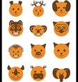 icon set animals circle vector image vector image