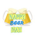 ill two glasses light beer vector image