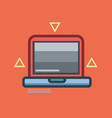 laptop icon set of great flat icons use for vector image vector image