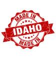 made in idaho round seal vector image vector image