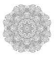 mandala zentangl doodle drawing round ornament vector image vector image