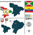 map santo domingo de los tsachilas ecuador vector image vector image