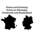 maps france and germany silhouettes vector image vector image