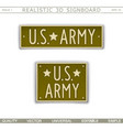 military signboard us army vector image