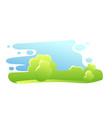 minimalist nature landscape flat vector image vector image