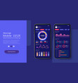 mobile app infographic template with modern design vector image vector image