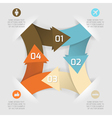 Modern business origami style options paper banner vector image vector image
