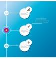 modern infographics timeline Design template vector image vector image