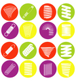 monochrome icon set with springs vector image vector image