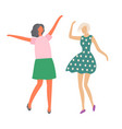 moving girls female characters dancing isolated vector image vector image