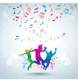 Music and young people vector image vector image