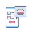 online food ordering - modern line design style vector image