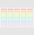 pastel colored realistic sticky notes isolated vector image