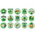 patricks day holiday badges and symbols vector image vector image