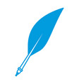 pen feather isolated vector image