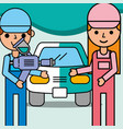 people car service vector image vector image