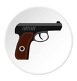 Pistol icon flat style vector image