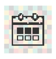 pixel icon calendar on a square background vector image