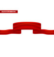 realistic red ribbon as a banner vector image vector image