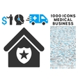 Realty Protection Icon with 1000 Medical Business vector image vector image