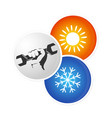 repair air conditioner design vector image vector image