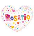 rosario city in argentina vector image vector image