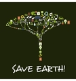 Save Earth ecology environment protection symbol vector image